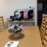 カフェ部分の2階には、Melody Houseさんの洋服も並びました。